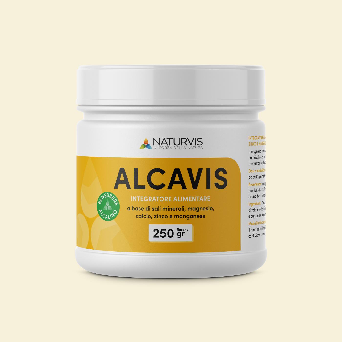 integratore alimentare sali alcalini magnesio potassio zinco alcavis