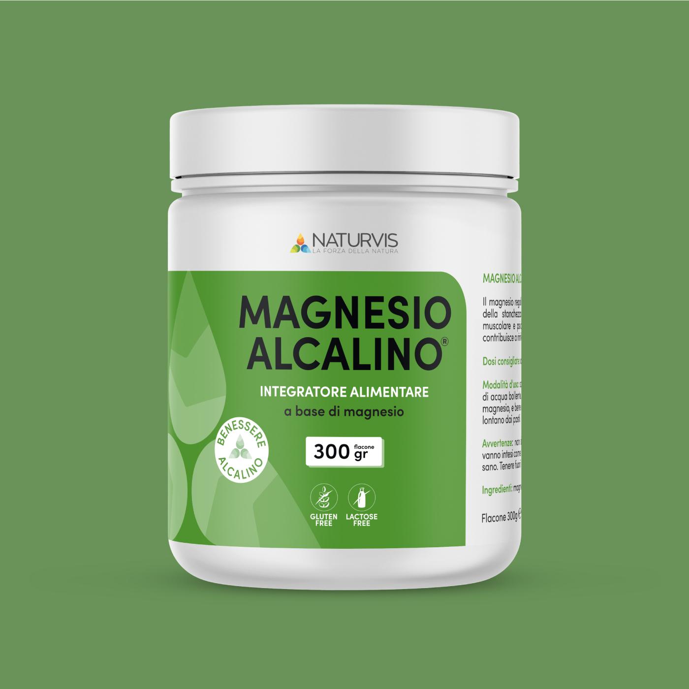 Integratore di magnesio alcalino 300 grammi
